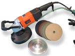 "Rotoblast 7"" Variable Speed Extreme Duty Wet Polisher Grinder with pads"