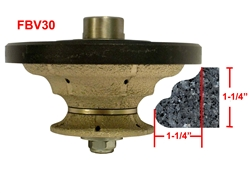 "FBV30 Hand Profile for Granite, Marble, Concrete and Engineered Stone Router Bit 5/8""-11 Thread"