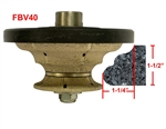 "FBV40 Hand Profile for Granite, Marble, Concrete and Engineered Stone Router Bit 5/8""-11 Thread"