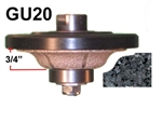 "GU20 Router bit for Granite, Marble, Concrete and Engineered Stone Router Bit 5/8""-11 Thread"