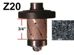"Z20 Router bit for Granite, Marble, Concrete and Engineered Stone Router Bit 5/8""-11 Threa"