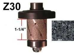 "Z30 Router bit for Granite, Marble, Concrete and Engineered Stone Router Bit 5/8""-11 Threa"